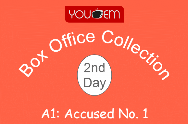 A1: Accused No. 1 2nd Day Box Office Collection, Occupancy, Screen Count