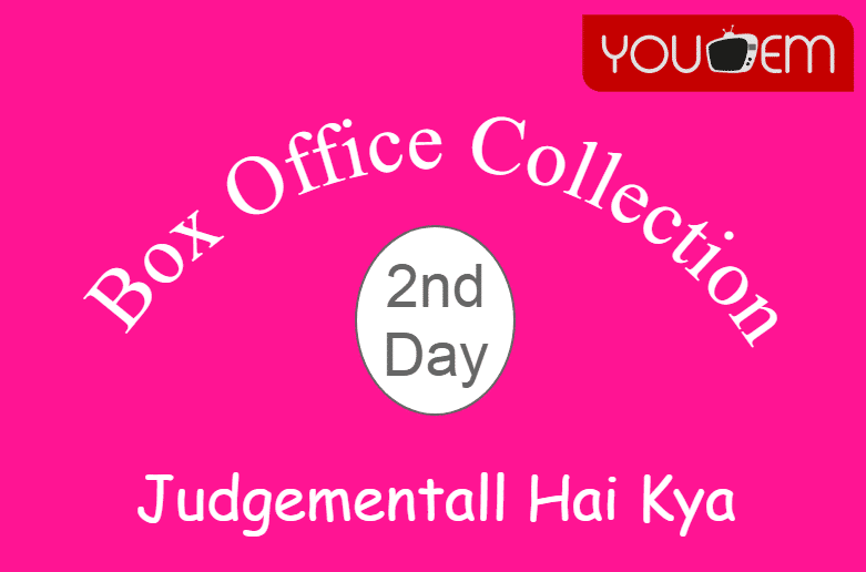 Judgementall Hai Kya 2nd Day Box Office Collection